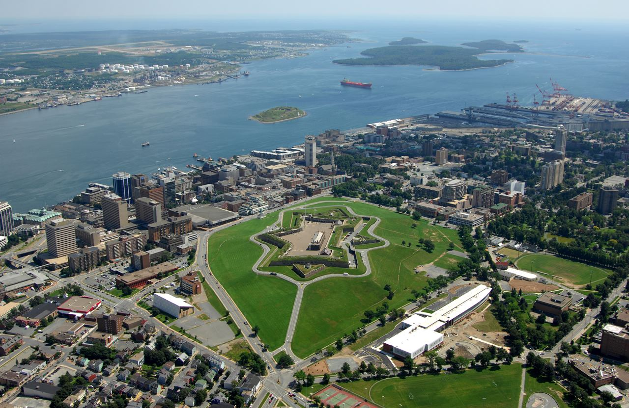 Aerial view of Halifax Citadel National Historic Site of Canada